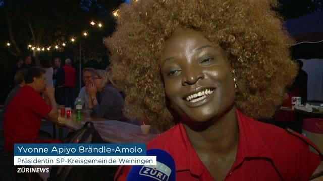 1.-August-Rede 2015 in Oberengstringen: Yvonne Apiyo Brändle-Amolo begeistert SVP-Hochburg.