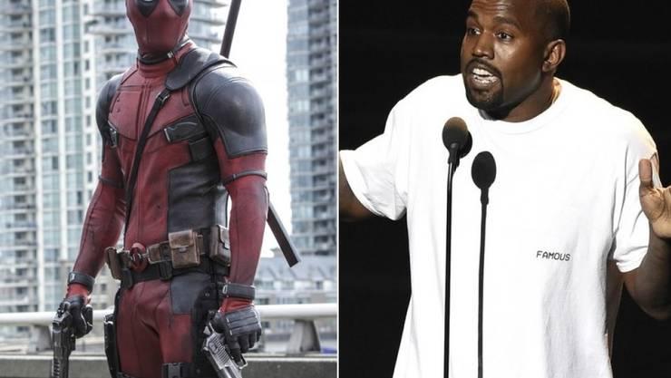 "Kanye West (r) findet ""Deadpool"" so cool - er wünschte, er hätte den Soundtrack dafür liefern dürfen. (Archivbilder)"