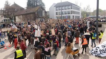 Klimademo in Aarau