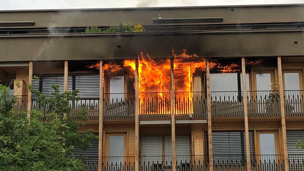 Wohnung brannte lichterloh