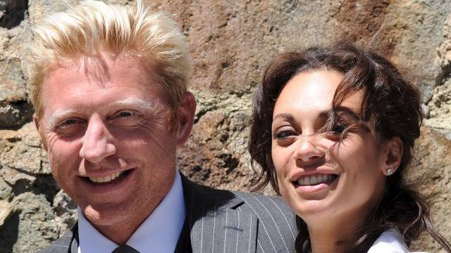 Boris Becker und Lilly Kerssenberg am Hochzeit (Archiv)