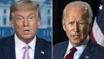 Der Republikaner Donald Trump (74) und der Demokrat Joe Biden (77) bewerben sich ums höchste Amt Amerikas. Nur einer kann gewinnen. Am 3. November entscheidet sich, wer für die nächsten vier Jahre ins Weisse Haus einzieht.