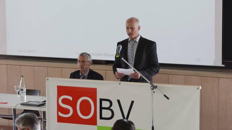 Sie wollen Kulturland statt Oekoflächen: Bauernsekretär Peter Brügger (l.) und Bauernverbandspräsident Andreas Vögtli.