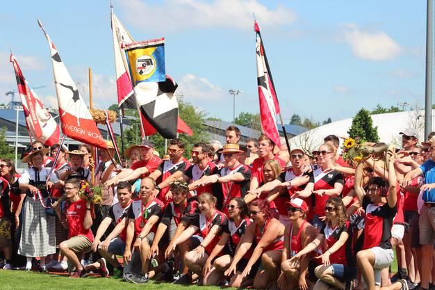 Nach dem Eidgenössischen Turnfest wurden die Wohler Turnerinnen und Turner in der Niedermatten empfangen.