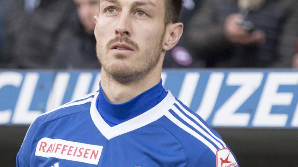 François Affolter, hier noch im Trikot des FC Luzern, ist mit San Jose in den Playoffs der MLS ausgeschieden