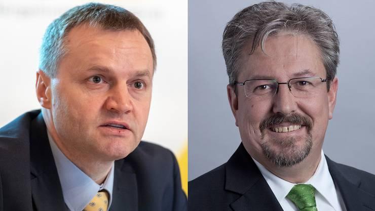 Im Aargau wollen BDP und GLP nicht fusionieren. Weder Bernhard Guhl (BDP, links) noch Beat Flach (GLP) lassen sich für die Idee erwärmen.