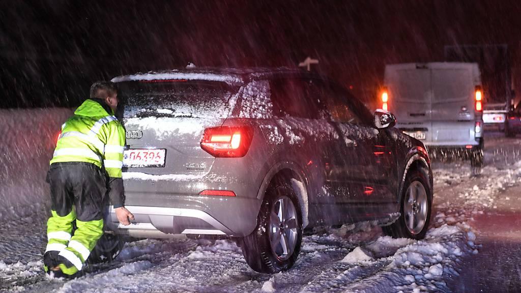 Heftige Schneefälle in Südtirol und Teilen Österreichs