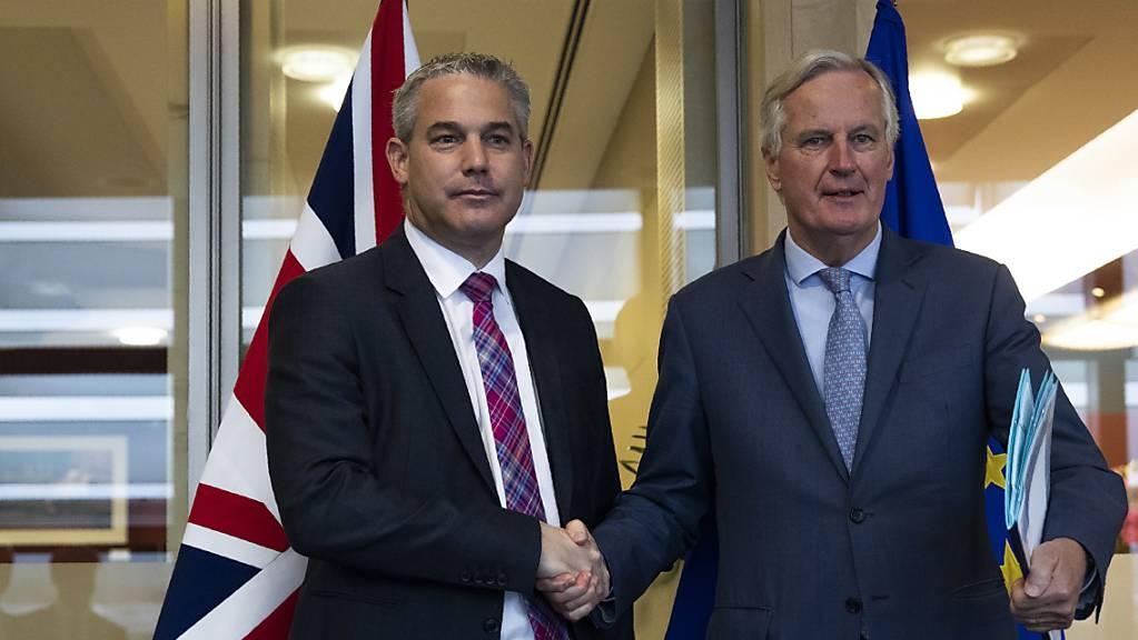 Gemäss EU-Diplomaten haben EU-Chefunterhändler Michel Barnier und der britische Brexit-Minister Stephen Barclay am Freitagvormittag in Brüssel ein «konstruktives Gespräch» geführt.
