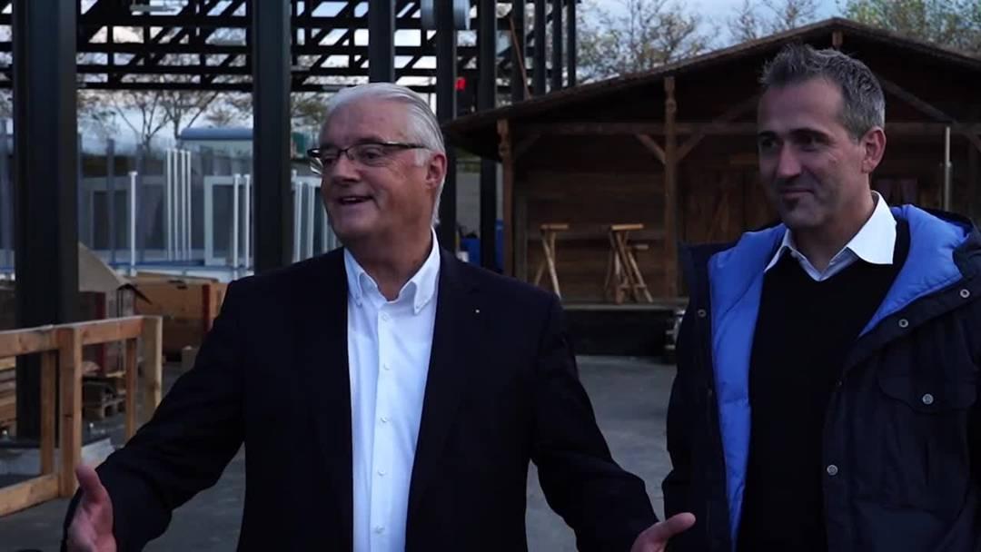 Roland Kuster und Marco Baumann über die Eisfeld-Eröffnung im Tägi Wettingen