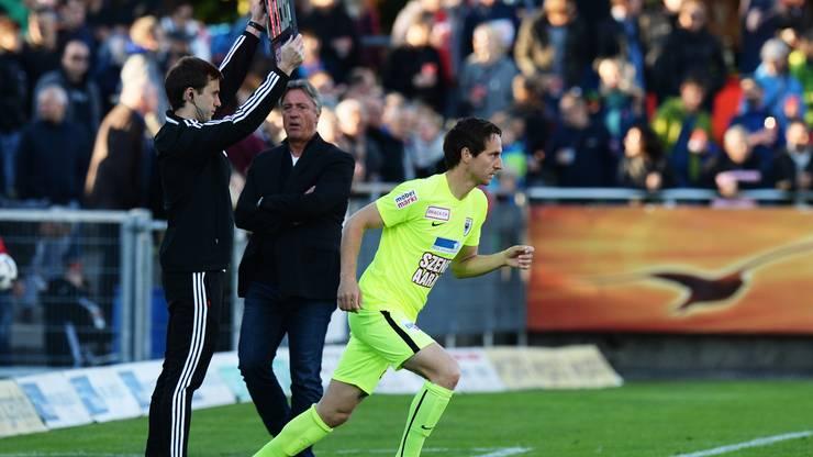 Sandro Burki gibt sein Comback nach der Verletzung.