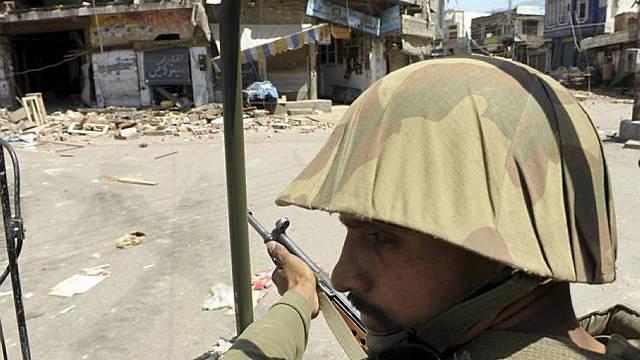 Pakistanischer Soldat in Mingora