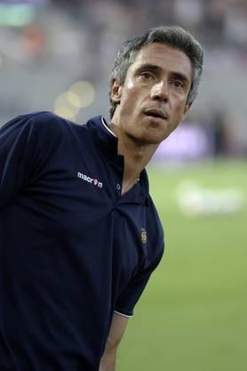 Sousa während eines Qualifikationsmatches für die Champions League als Trainer von Maccabi Tel Aviv.