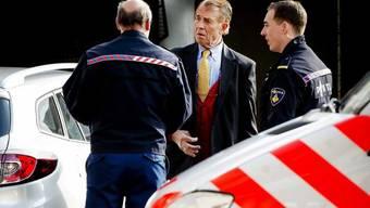 Ernst Jansen am Dienstag bei der Ankunft vor dem Gericht