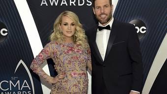 Die Sängerin Carrie Underwood und ihr Mann Mike Fisher haben einen zweiten Knaben bekommen. (Archivbild)