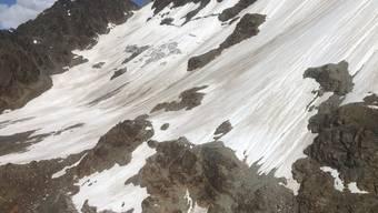 Die Absturzstelle befindet sich im Gebiet der Gletscherspitze.