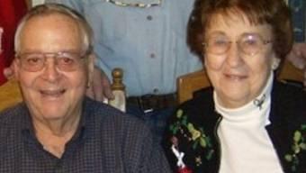 Undatiertes Bild von Helen Collins mit ihrem Mann