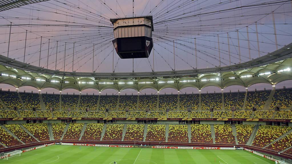 Das Nationalstadion von Bukarest darf für Schweiz - Frankreich zur Hälfte gefüllt werden