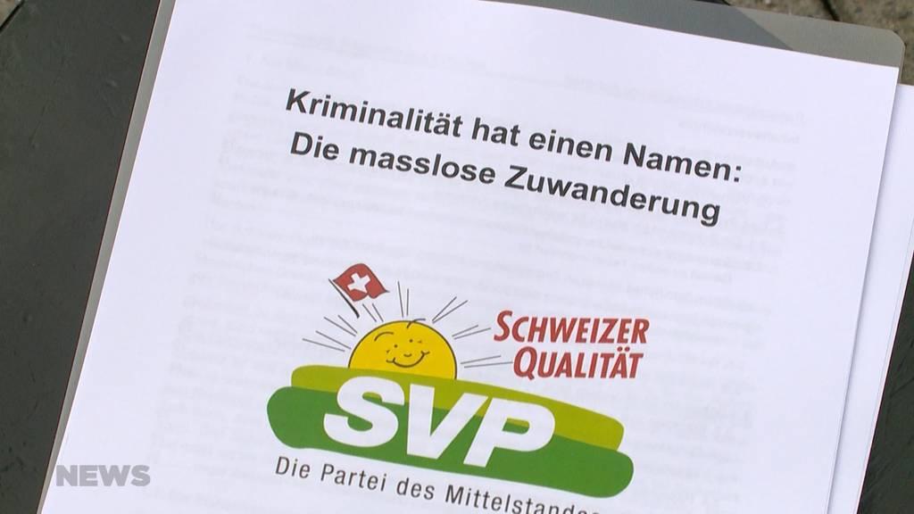 SVP: Schweiz soll kein Paradies für Kriminelle werden