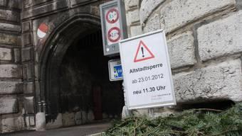 Kein grosses Thema: Die Anfang 2012 eingeführte erweiterte Altstadtsperre.
