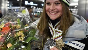 Corinne Suter war mit ihren beiden WM-Medaillen die Aufsteigerin von Swiss-Ski in dieser Saison