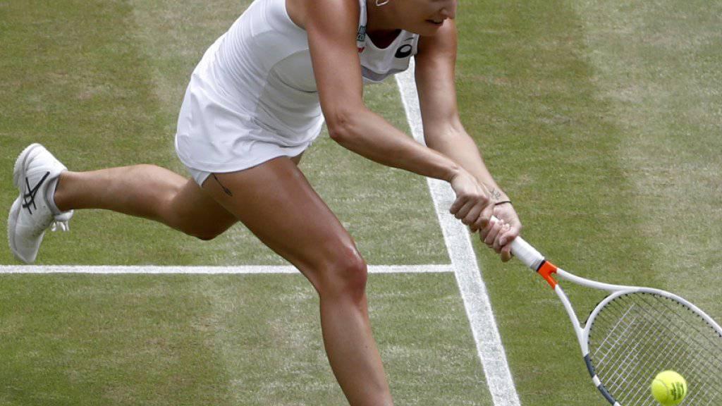 Timea Bacsinszky schied wie bereits vor einem Jahr in Wimbledon in der 3. Runde aus