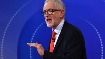 Der britische Oppositionsführer Jeremy Corbyn während der am Freitag vom Sender BBC ausgestrahlten Diskussionsrunde.