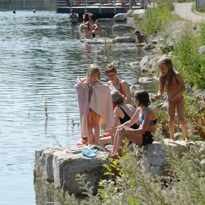 Kappisee in Baden Seit gut sechs Jahren lädt die gestaute Limmat auf Höhe Kappelerhof zum Baden ein