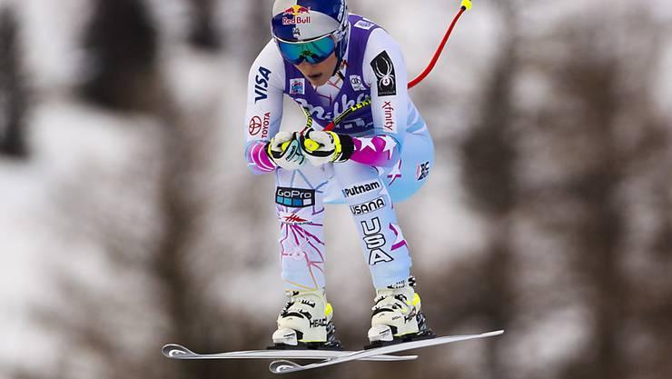 In der zweiten Abfahrt in Cortina wurde Lindsey Vonn ihrer Favoritenrolle gerecht