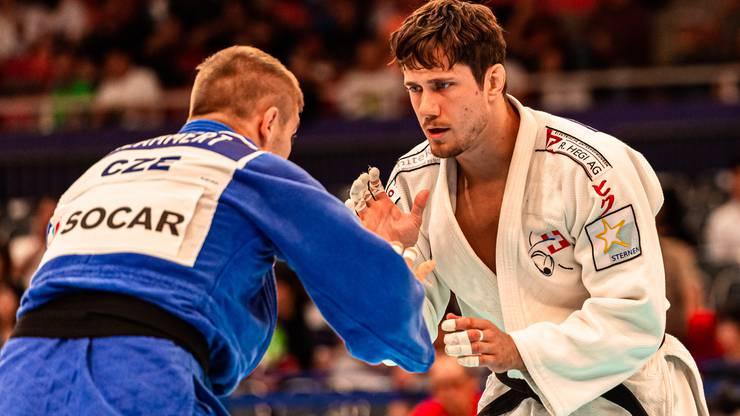 Judoka Ciril Grossklaus (r.) hat bis Ende Mai 2020 Zeit, sich in der Olympia-Rangliste auf die Qualiplätze vorzuarbeiten. 2016 ist es dem 28-Jährigen im Hinblick auf Rio gelungen.