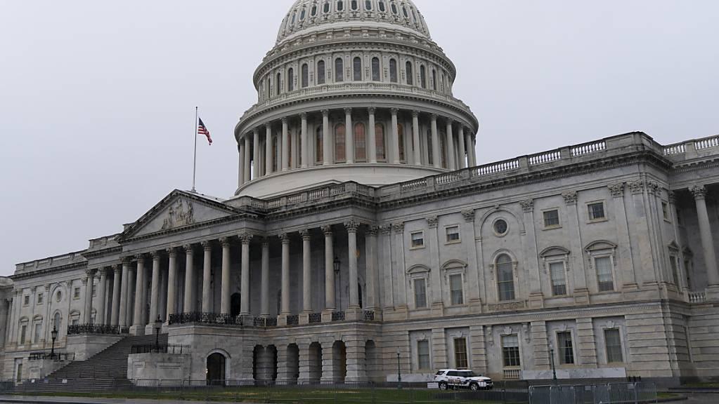 Blick auf das Kapitol, dem Sitz des US-Kongresses.