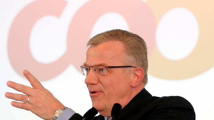 Hansueli Loosli, Vorsitzender der Geschaeftsleitung, spricht an der Bilanzmedienkonferenz. © Melanie Duchene/EQ Images