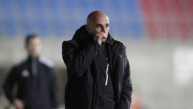 Trainer Giorgio Contini muss weiter auf 2. Sieg mit Vaduz warten