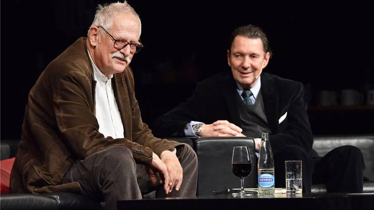 Erfolgreich mit Krimis: Hansjörg Schneider mit seinen «Hunkeler»- und Martin Suter mit den «Allmen»-Romanen.