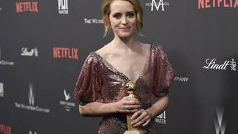 """Netflix gewinnt neue Kunden dank Serien wie """"The Crown"""", deren Hauptdarstellerin Claire Foy vor zehn Tagen einen Golden Globe gewann. (Archivbild)"""