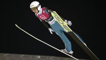 Mit einem guten und einem mässigen Sprung wie meist bester Schweizer: Simon Ammann