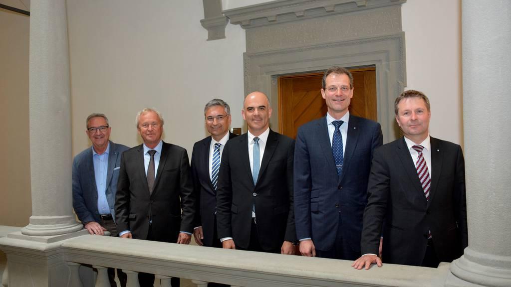 Bundesrat Berset beim Luzerner Regierungsrat