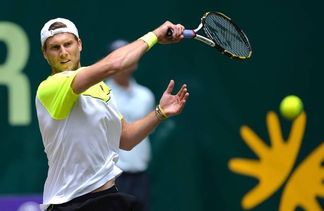 Im ersten Satz leistete Seppi noch Widerstand – Federer musste bei 4:5 zwei Satzbälle abwehren.