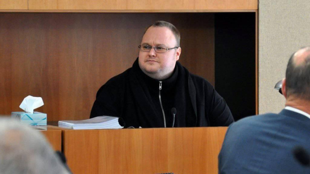 Kim Dotcom im Gericht von Auckland: Die Verhandlung seines Falles wird im Internet übertragen. (Archivbild)