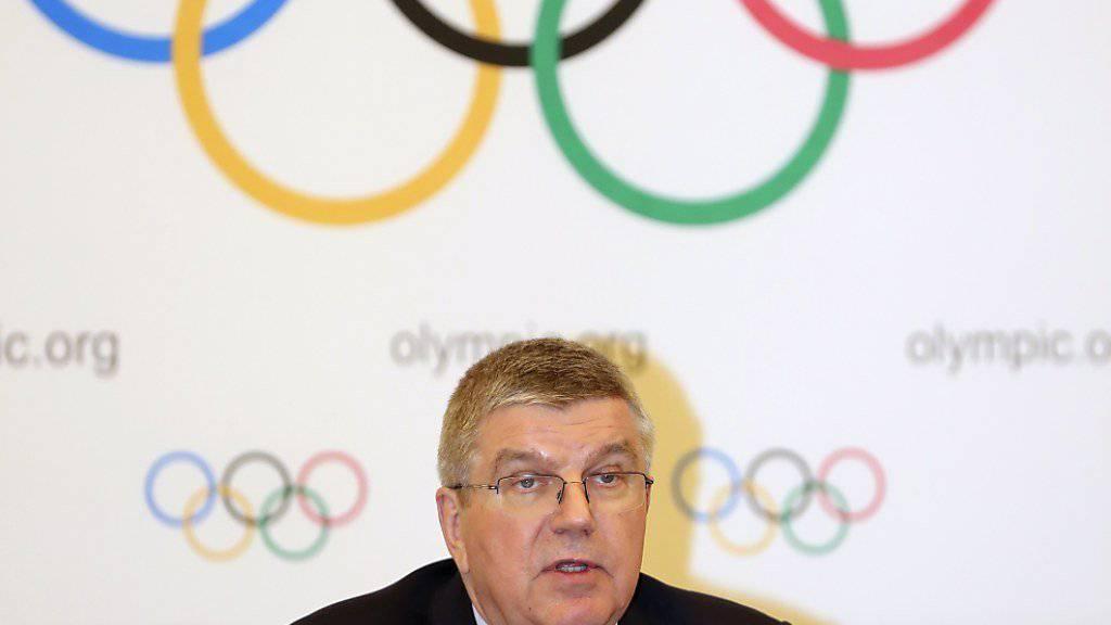 Der Herr der Ringe: IOC-Präsident Thomas Bach lässt für die Olympischen Sommerspiele 2024 und 2028 alle Optionen offen