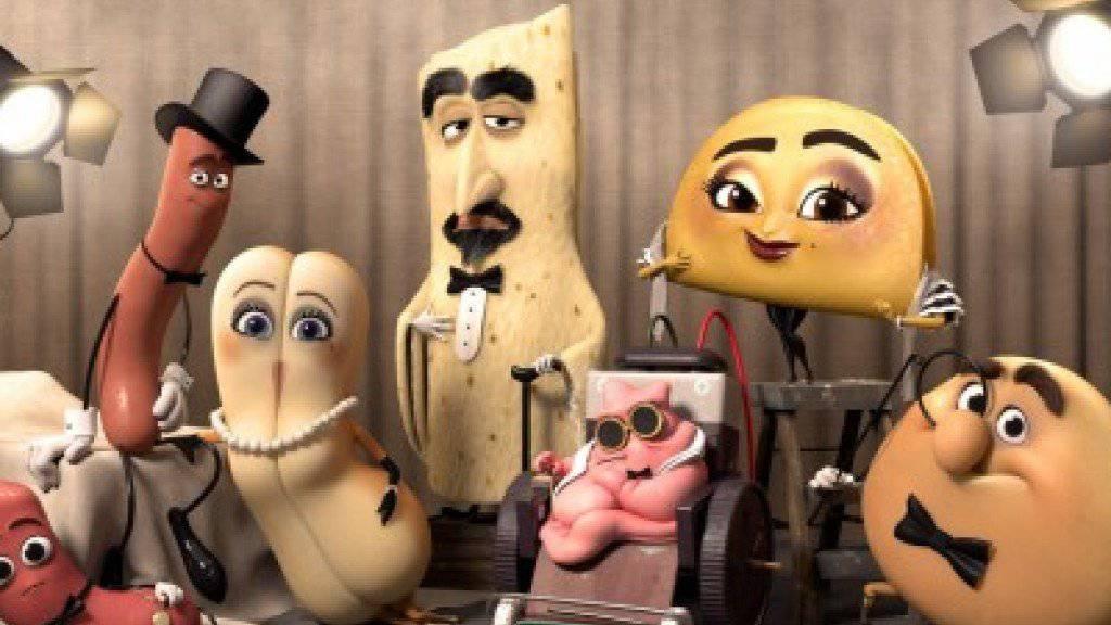 """Die Hauptdarsteller im Animationsfilm """"Sausage Party"""", der künftig in Frankreich erst ab 16 - wie in der Schweiz - zu sehen sein soll. (Handout)"""