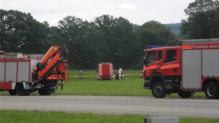 Blick auf die Unfallstelle. Die Behörde kritisiert unter anderem, dass das TLF auf der Piste abgestellt wurde.