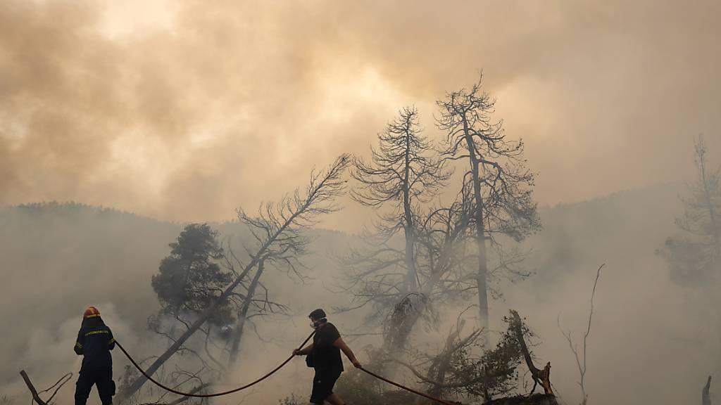 Vorerst leichte Hoffnung auf Entspannung bei Bränden in Griechenland