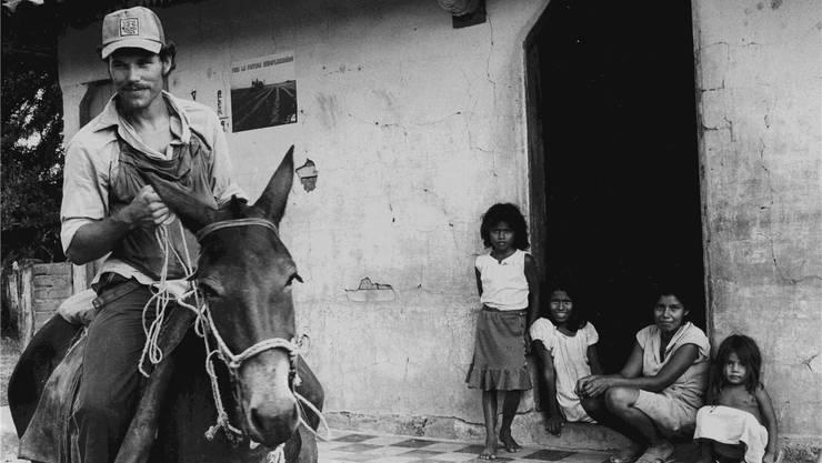 Maurice Demierre bei einer Farmer-Familie in Las Pilas im Norden Nicaraguas. Rob Brouwer