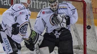 Abwehr-Bollwerk: Luganos Goalie Sandro Zurkirchen musste sich durch den Leader Zug nur einmal bezwingen lassen