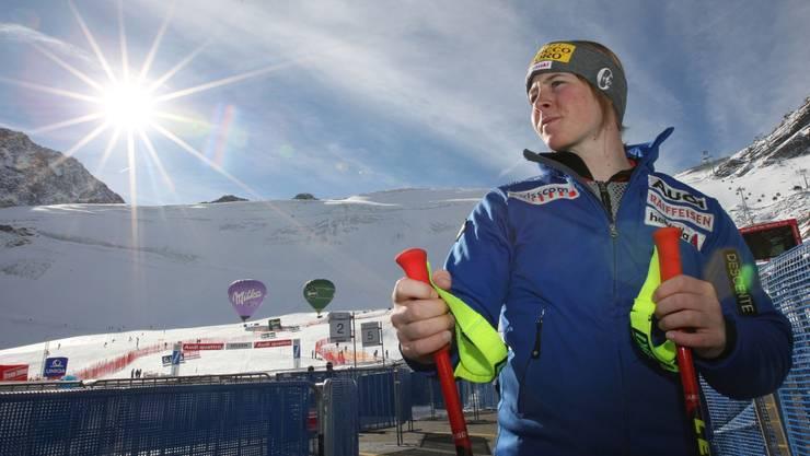 Zum Weltcupauftakt in Sölden 2007 schien noch die Sonne, wenig später verschwand Pascale Berthod von der Bildfläche. Urs Bucher/eq images