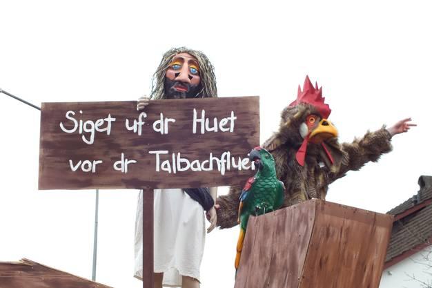 """""""Siget uf dr Huet vor dr Talbachfluet"""", meinen D'Wild-Waggis."""