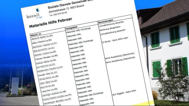 Gemeinde Boswil verschickt versehentlich vertrauliche Daten