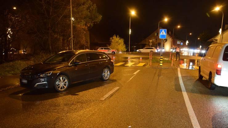 In Hägendorf wurde eine Fussgängerin von einem Auto angefahren.