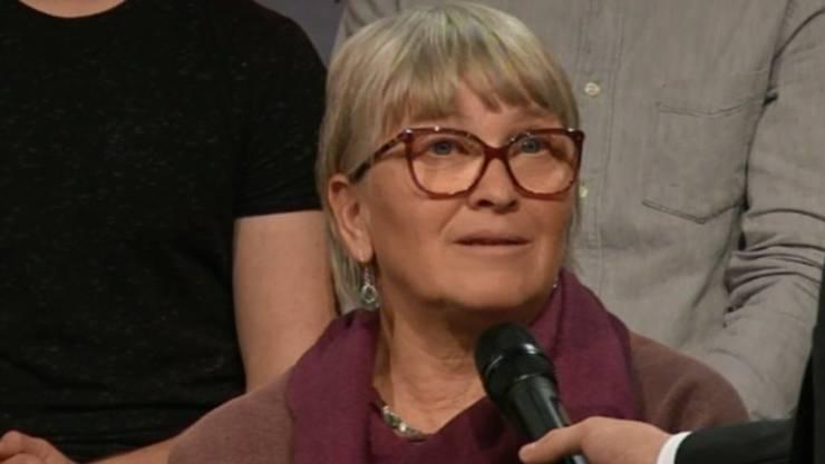 Impfgegnerin Rose Jenni schaltete sich immer wieder aus dem Publikum in die Debatte ein.