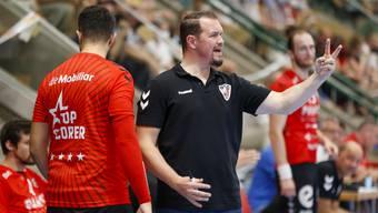 HSC-Trainer Misha Kaufmann (r.) ärgerte sich gegen GC Amicitia über die Körpersprache seiner Spieler.